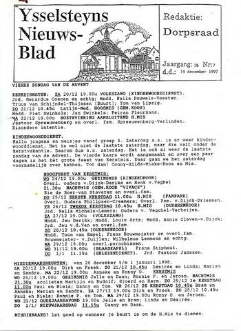 Ysselsteyns Nieuwsblad 1997-12-19
