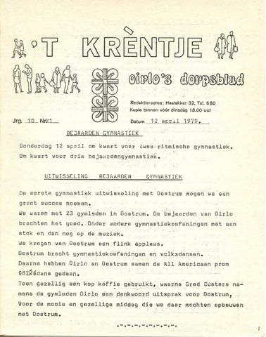 Oirlo's dorpsblad 't Krèntje 1979-04-12