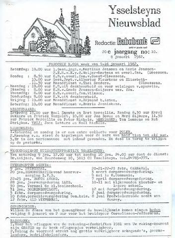 Ysselsteyns Nieuwsblad 1982-01-08