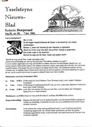 Ysselsteyns Nieuwsblad 2001-12-07
