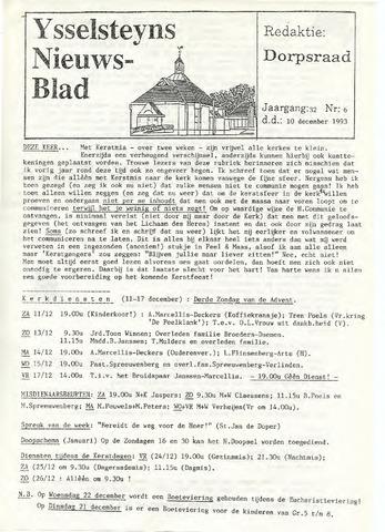 Ysselsteyns Nieuwsblad 1993-12-10