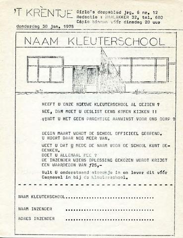 Oirlo's dorpsblad 't Krèntje 1975-01-30
