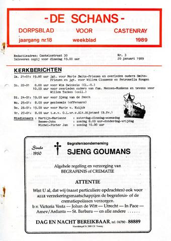 Castenrays dorpsblad De Schans 1989-01-20