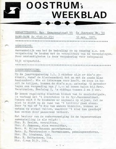 Oostrum's Weekblad 1977-11-10