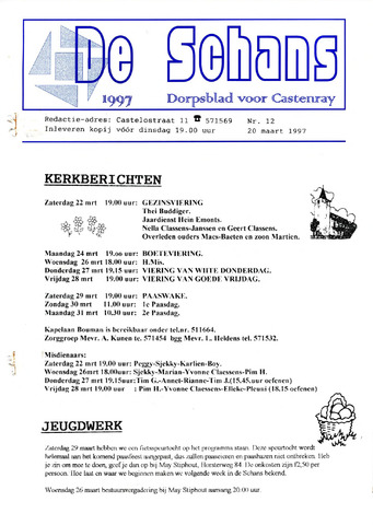 Castenrays dorpsblad De Schans 1997-03-20