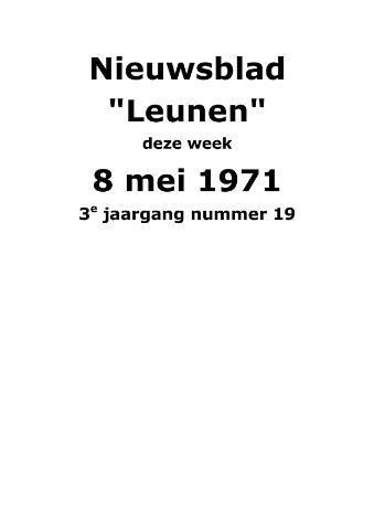 Dorpsblad Leunen-Veulen-Heide 1971-05-08