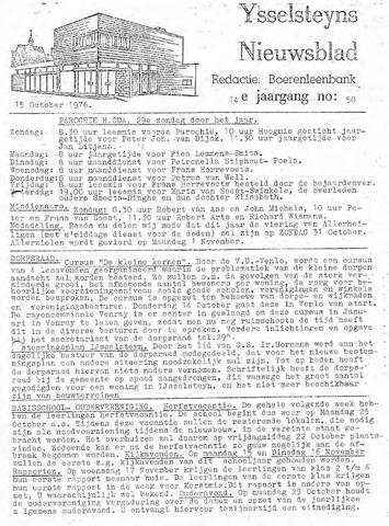 Ysselsteyns Nieuwsblad 1976-10-15