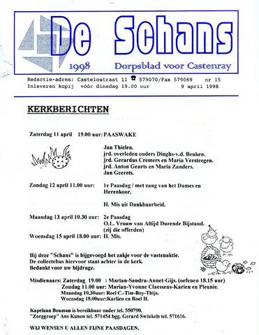 Castenrays dorpsblad De Schans 1998-04-09