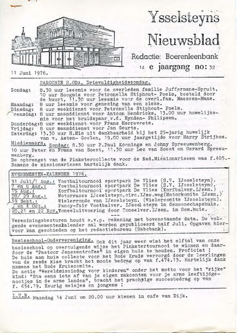 Ysselsteyns Nieuwsblad 1976-06-11