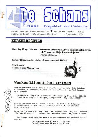 Castenrays dorpsblad De Schans 2000-08-10