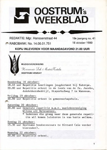 Oostrum's Weekblad 1990-10-18
