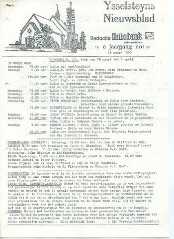 Ysselsteyns Nieuwsblad 1980-03-28