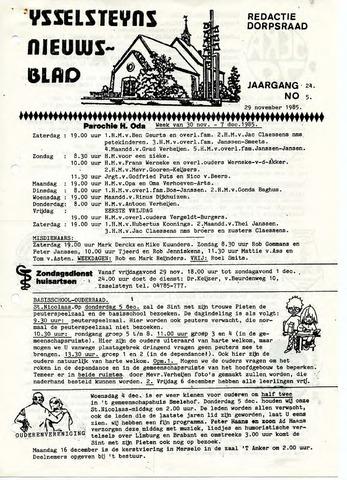 Ysselsteyns Nieuwsblad 1985-11-29