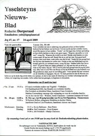Ysselsteyns Nieuwsblad 2009-04-24