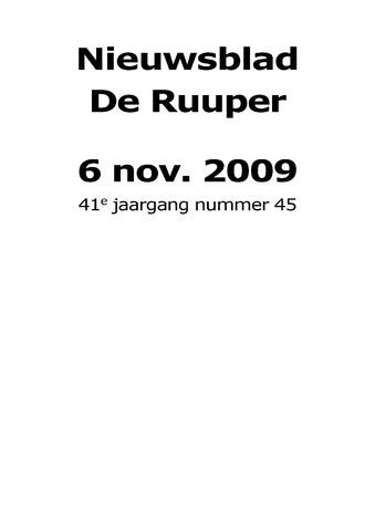 Dorpsblad Leunen-Veulen-Heide 2009-11-06