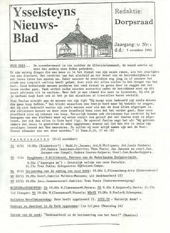 Ysselsteyns Nieuwsblad 1993-11-05