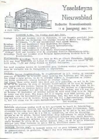 Ysselsteyns Nieuwsblad 1975-07-04