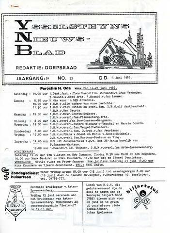Ysselsteyns Nieuwsblad 1986-06-13