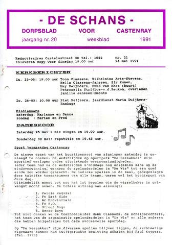 Castenrays dorpsblad De Schans 1991-05-24