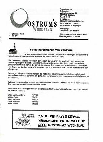 Oostrum's Weekblad 2005-07-14