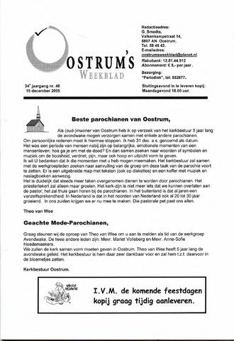 Oostrum's Weekblad 2005-12-15