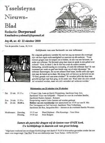 Ysselsteyns Nieuwsblad 2010-10-22