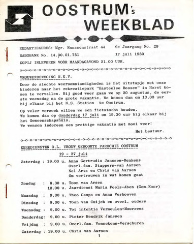 Oostrum's Weekblad 1980-07-17