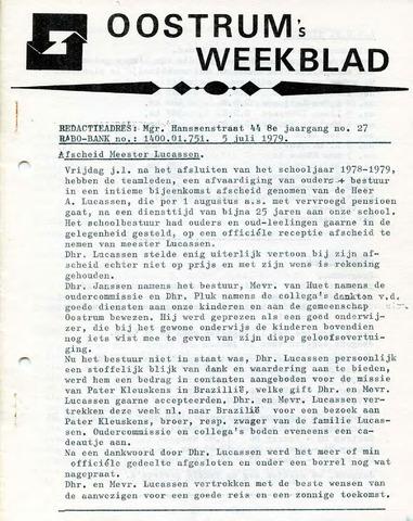 Oostrum's Weekblad 1979-07-05