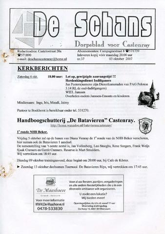 Castenrays dorpsblad De Schans 2007-10-03