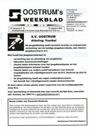 Oostrum's Weekblad 2004-08-12