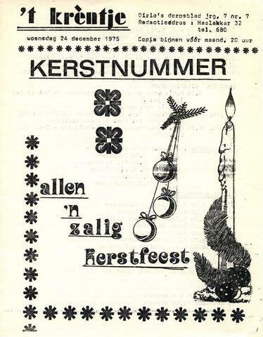 Oirlo's dorpsblad 't Krèntje 1975-12-24
