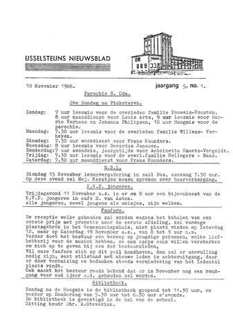 Ysselsteyns Nieuwsblad 1966-11-10