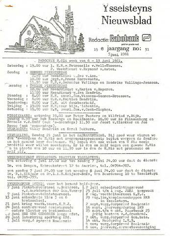 Ysselsteyns Nieuwsblad 1981-06-05