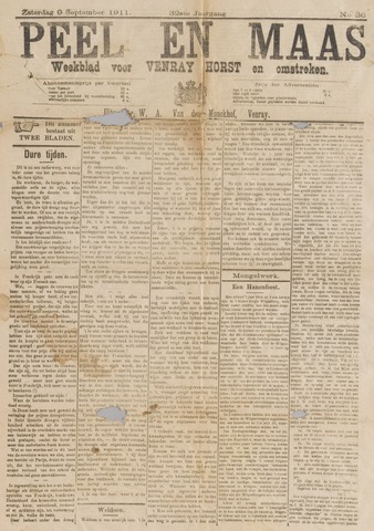 Peel en Maas 1911-09-09