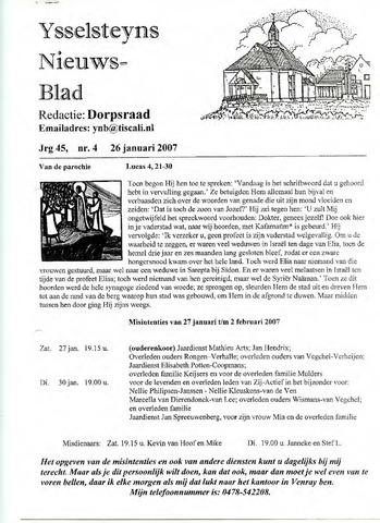Ysselsteyns Nieuwsblad 2007-01-26