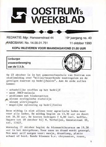 Oostrum's Weekblad 1990-10-11