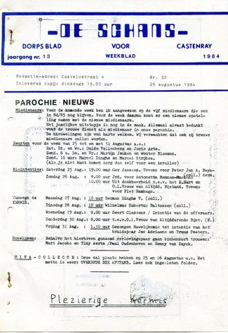 Castenrays dorpsblad De Schans 1984-08-25