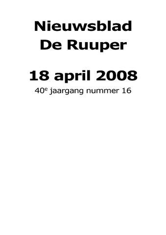 Dorpsblad Leunen-Veulen-Heide 2008-04-18