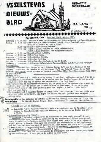 Ysselsteyns Nieuwsblad 1983-10-21