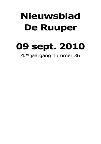 Dorpsblad Leunen-Veulen-Heide 2010-09-09