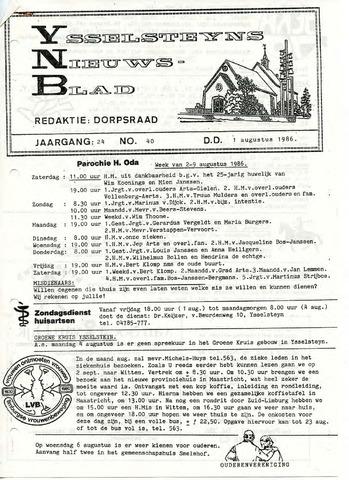 Ysselsteyns Nieuwsblad 1986-08-01