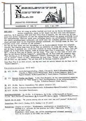 Ysselsteyns Nieuwsblad 1989-05-05