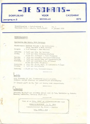 Castenrays dorpsblad De Schans 1979