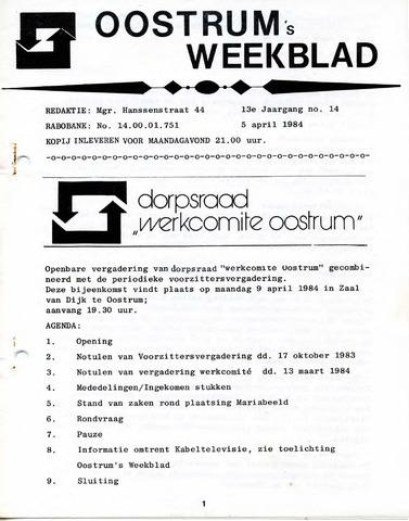 Oostrum's Weekblad 1984-04-05