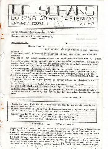Castenrays dorpsblad De Schans 1972