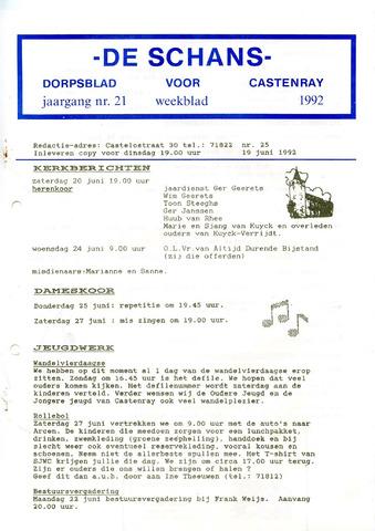 Castenrays dorpsblad De Schans 1992-06-19