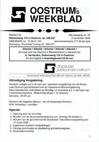 Oostrum's Weekblad 2000-11-09