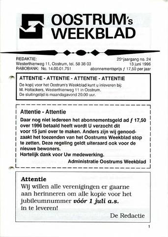 Oostrum's Weekblad 1996-06-13