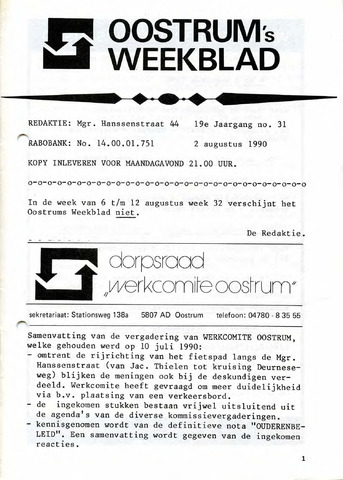 Oostrum's Weekblad 1990-08-02