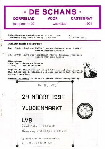 Castenrays dorpsblad De Schans 1991-03-15